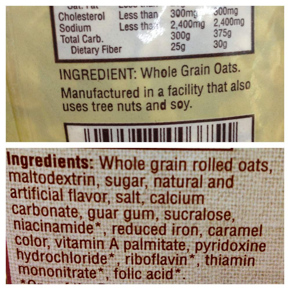 count ingredients not calories vegukate the bottom image is an energy bar the longest list of ingredients i ve ever seen which one would you rather eat